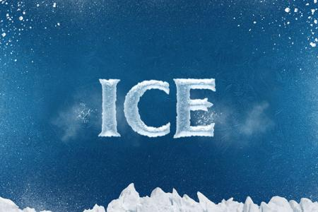 Ice Cold Text Effect