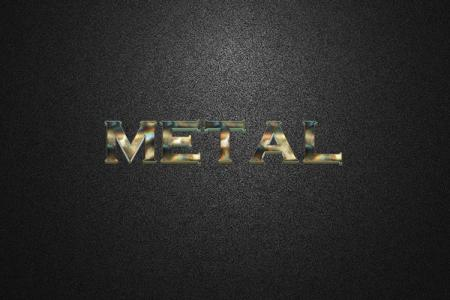 3D Glowing Metal Text Effect