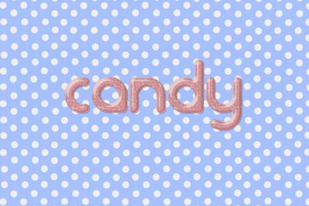Pink Candy Text Effect
