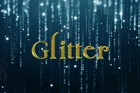 Gold Glitter Text Effect