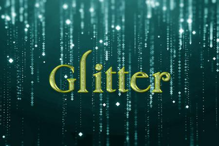 Green Glitter Text Effect