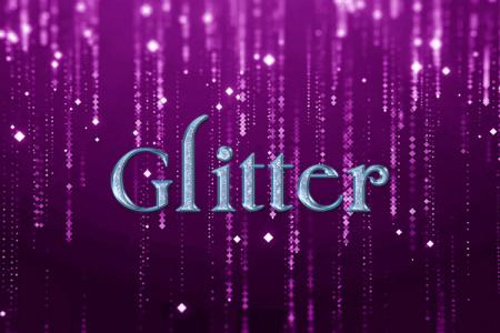 Blue Glitter Text Effect