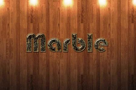 Marble Text Effect