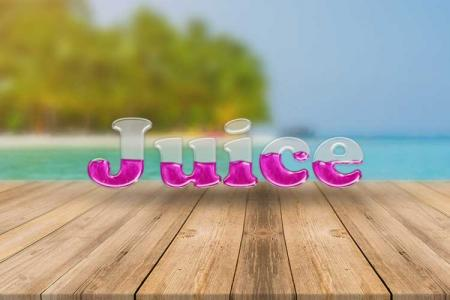 Fruit Juice Text Effect