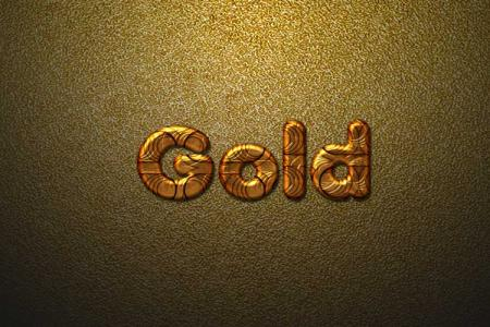 Abstra Gold Text Effect