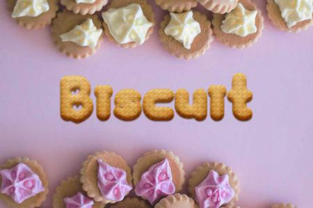Biscuit Text Effect