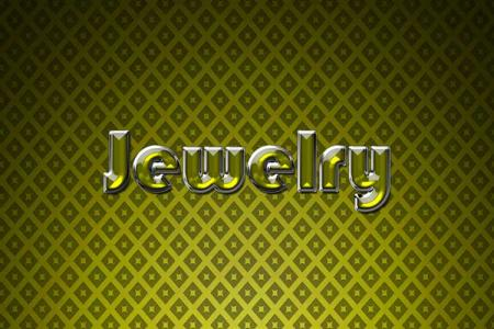 Yellow Jewelry Text Effect