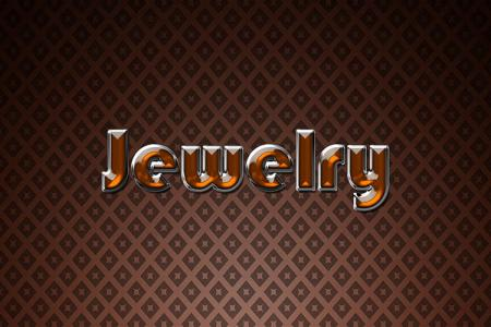 Orange Jewelry Text Effect