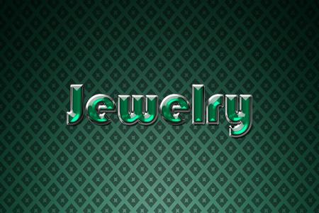 Green Jewelry Text Effect