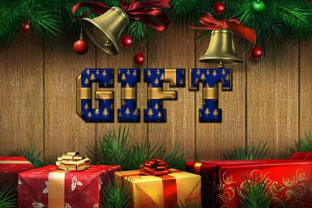 Chrismast Gift Text Effect