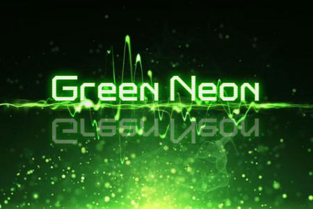 Green Neon Text Effect