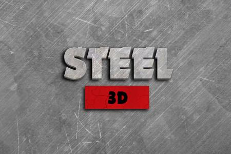 3D Steel Text Effect
