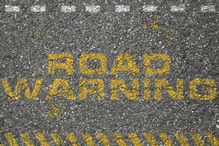 Road Warning Text Effect