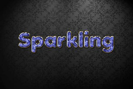 Blue Sparkling Jewelry Text Effect