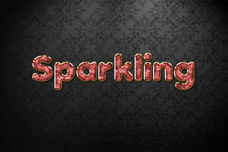 Red Sparkling Jewelry Text Effect