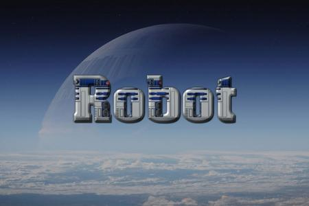 Robot R2 D2 Text Effect