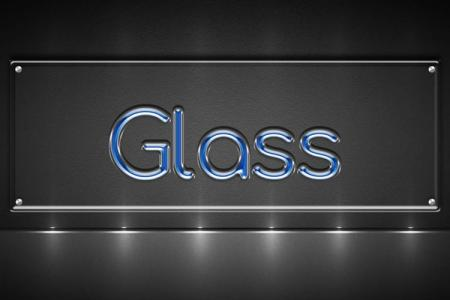 Blue Glass Text Effect