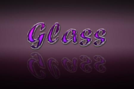 Purple Shiny Glass Text Effect