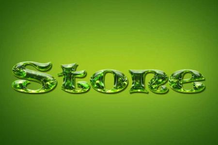 Peridot Stone Text Effect