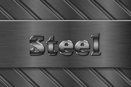 Steel Text Effect Online
