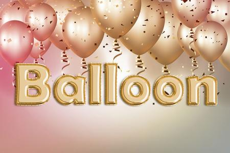 Gold Foil Balloon Text Effect