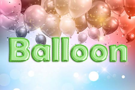 Green Foil Balloon Text Effect