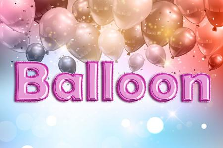 Pink Foil Balloon Text Effect
