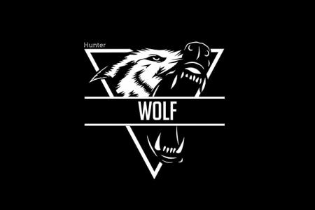 Create Wolf Logo Black & White