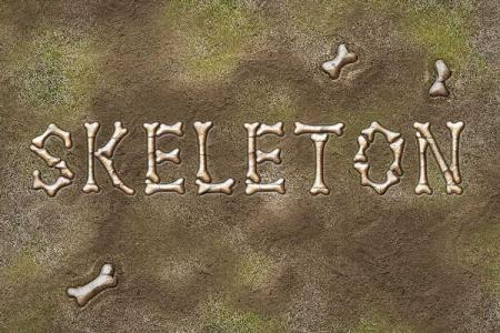 Skeleton Text Effect Online