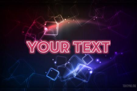 Neon Light Text Effect With Galaxy Style