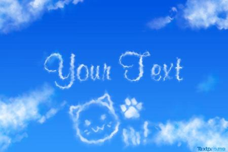 Create realistic cloud text effect online free