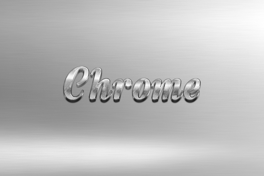 3D Chrome Text Effect