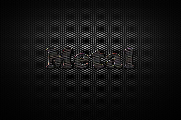Black Metal Text Effect