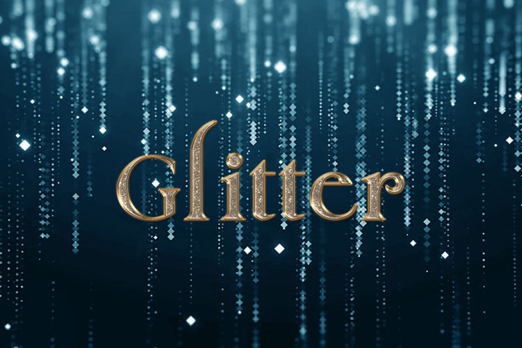Bronze Glitter Text Effect