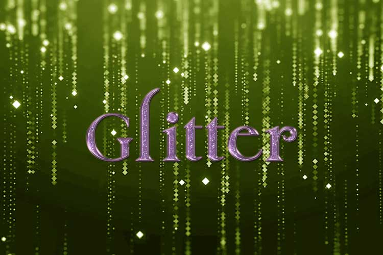 Purple Glitter Text Effect