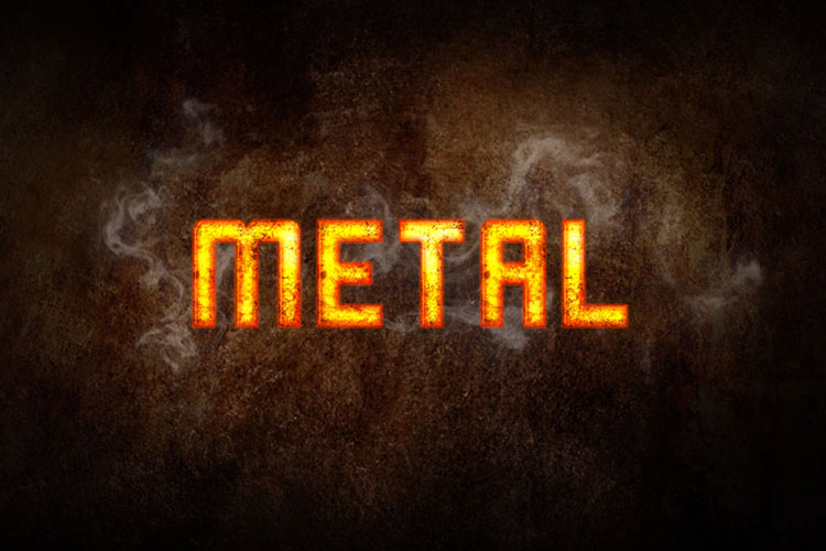 Hot Metal Text Effect