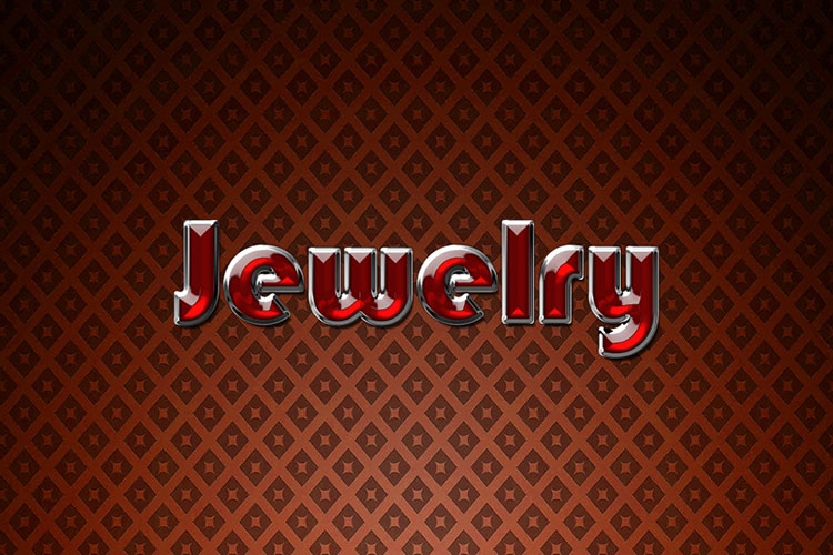 Red Jewelry Text Effect