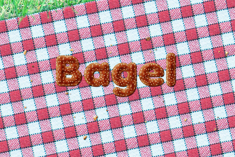 Bagel Text Effect