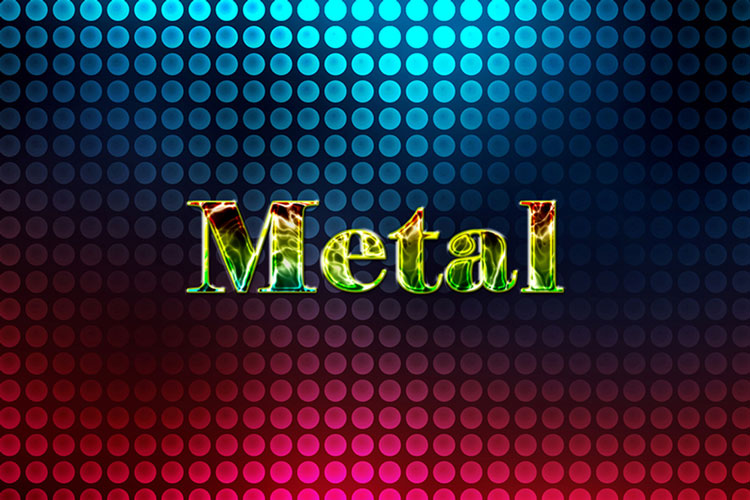 Metal Rainbow Text Effect