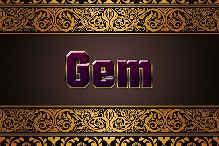 Purple Gem Text Effect