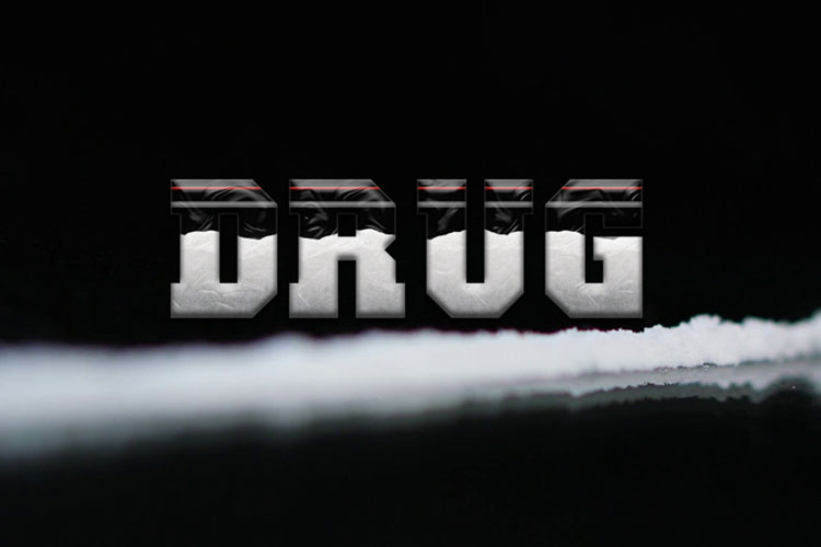 Plastic Bag Drug Text Effect