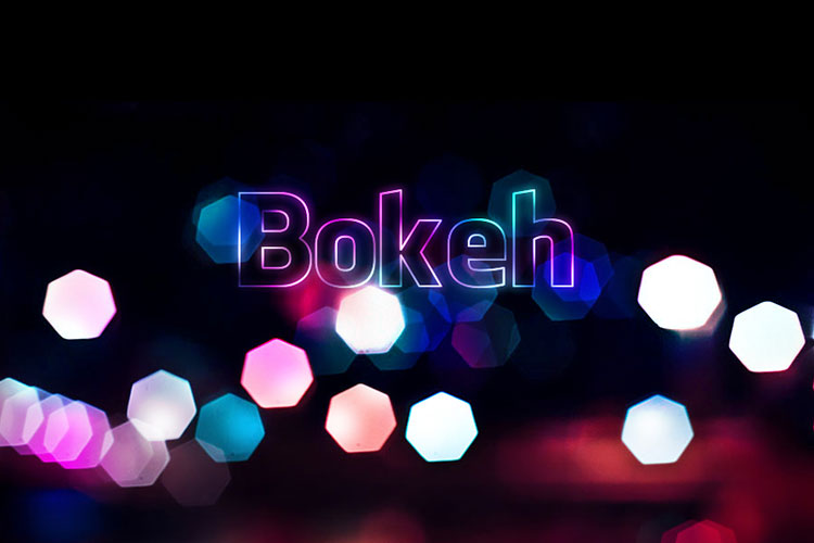 Bokeh Text effect