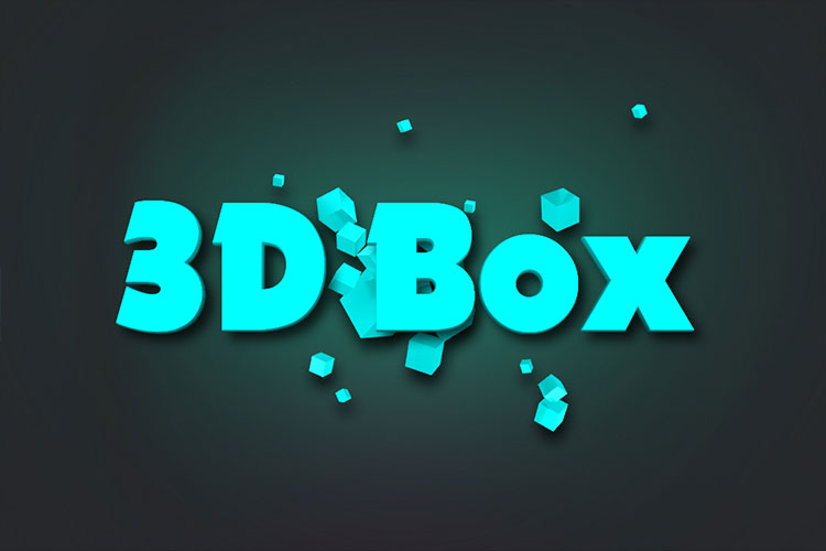 3D Box Text Effect Online