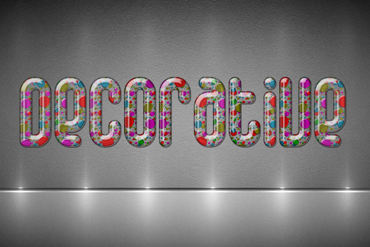 Decorative Glass Text Effect