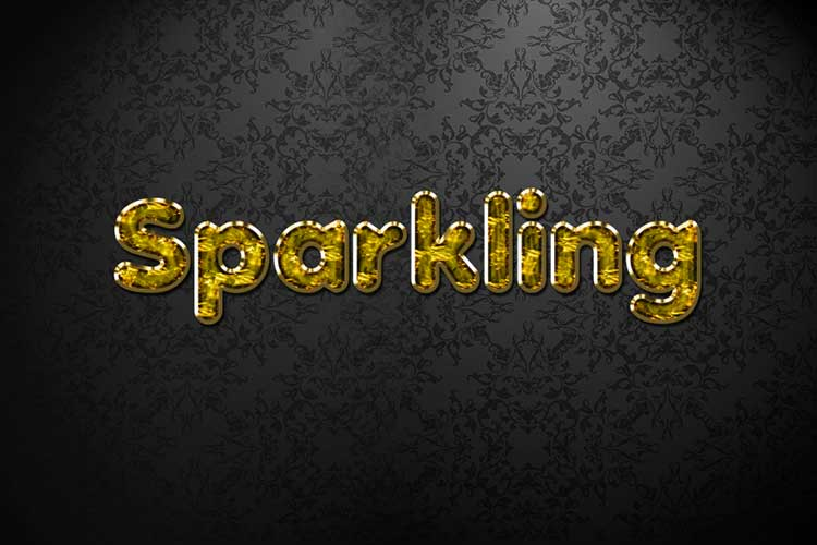 Gold Sparkling Jewelry Text Effect