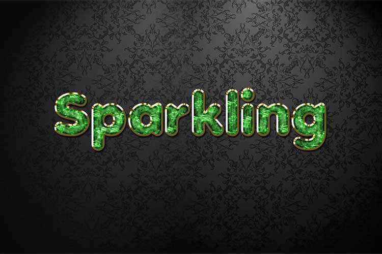 Green Sparkling Jewelry Text Effect
