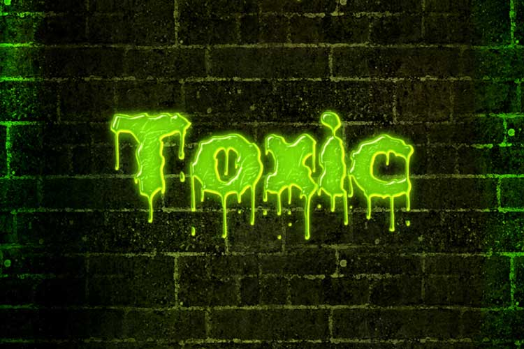 Toxic Text Effect Online