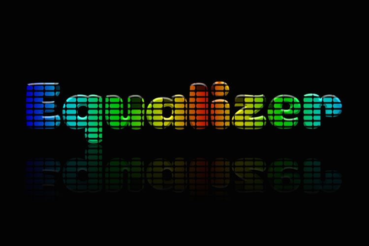 Rainbow Equalizer Text Effect