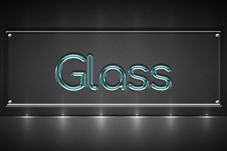 Cyan Glass Text Effect