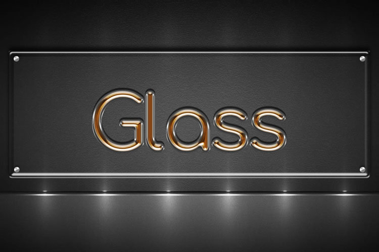 Orange Glass Text Effect